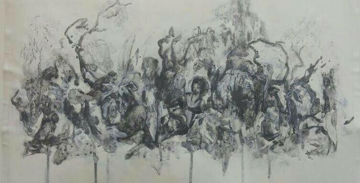 Feral Angel Drawing series - Jayne Anita Smith