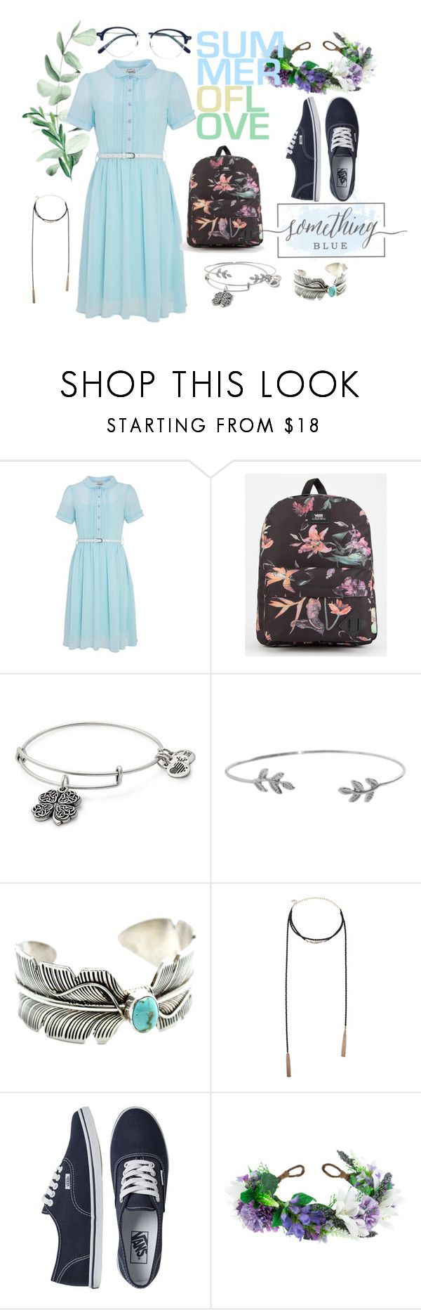 """""""Ravenclaw in Summer"""" by kristin-goetze on Polyvore featuring Joanie, Vans, Alex and Ani, Humble Chic, Forever 21, Rock 'N Rose and Yellows Plus"""