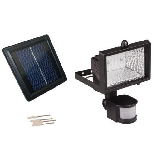 Solar LED Motion Sensor Security Flood Light SGG-PIR-28 by SolarGoesGreen by SolarGoesGreen. $79.99. Security Flood Light. 28 Bright LED Flood Light. Industry Leading Extended Warranty. Motion Sensor. Solar LED Flood Light. Whether you need security light protection or just some light in a dark space occasionally, the Solar Goes Green Solar Powered Motion Security Light with 28 LEDs will definitely meet your demand for both quality and performance.  Design flexi...