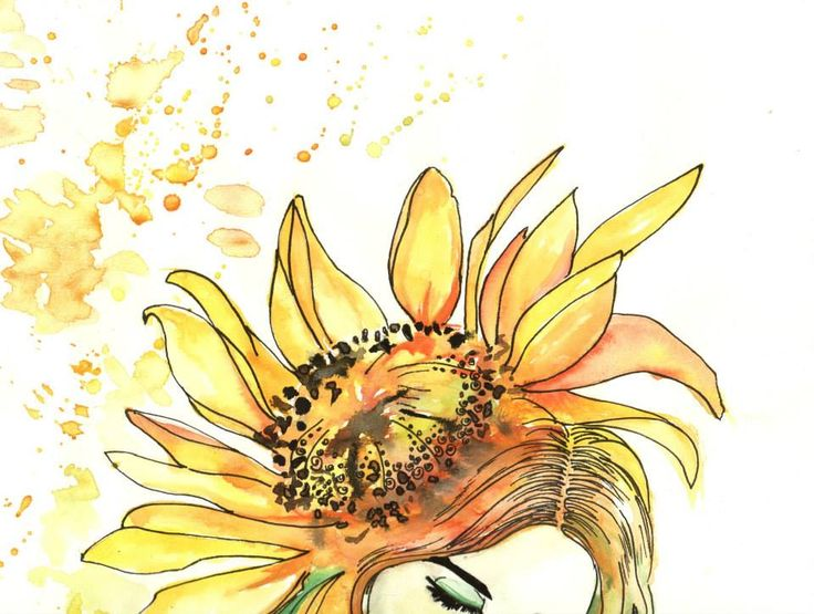 Girasol . Metamorfosis Femenina / Ilustration By Eins Artist.