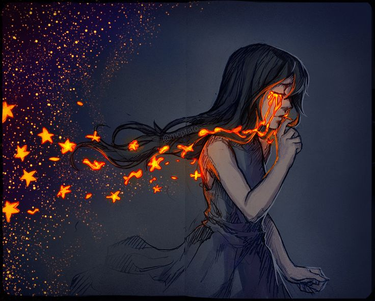Плачущая девушка арты