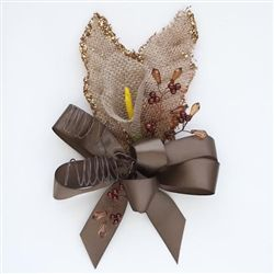 Burlap Corsage with Calla Lily