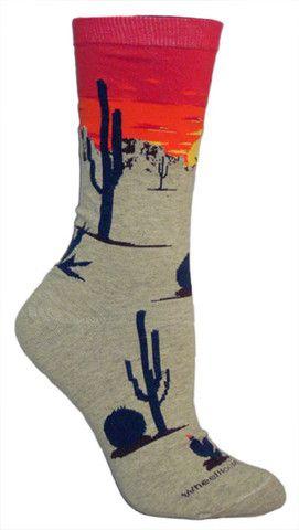 Desert Sunset Fun Novelty Socks for Women
