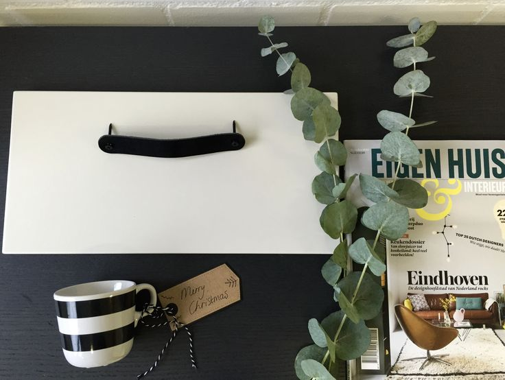 #moodboardmonday: #black-oak-top, colour #lattemachiato front by #FRONTZ, #leather #handle in black, #merrychristmas by FRONTZ @ www.myfrontz.nl