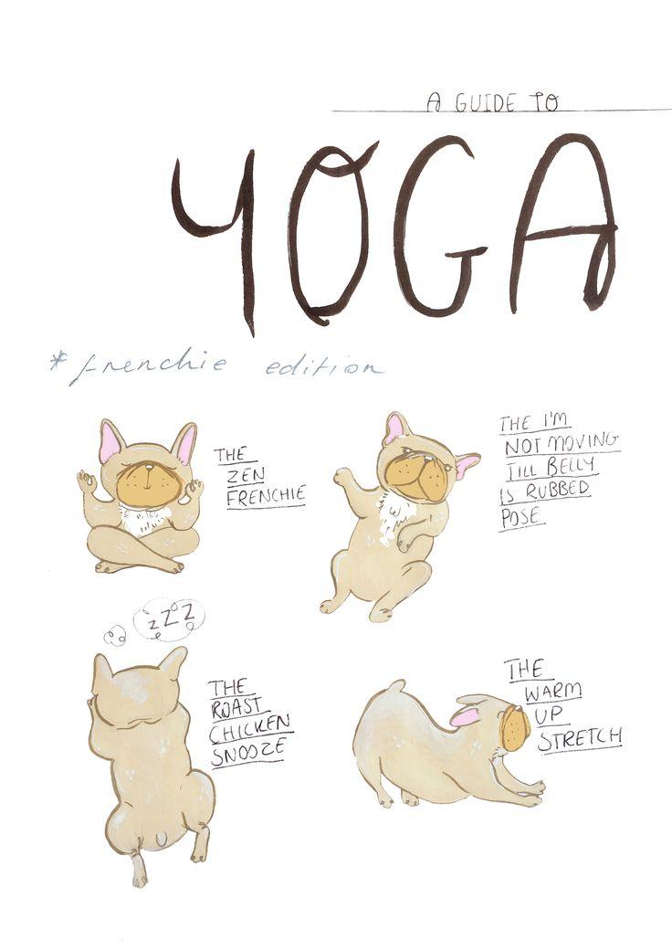frenchie Yoga. jessillustrates