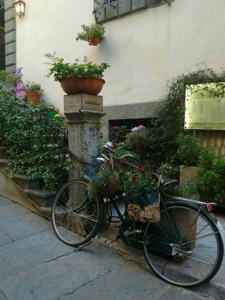 Side street in Cortona, Tuscany.