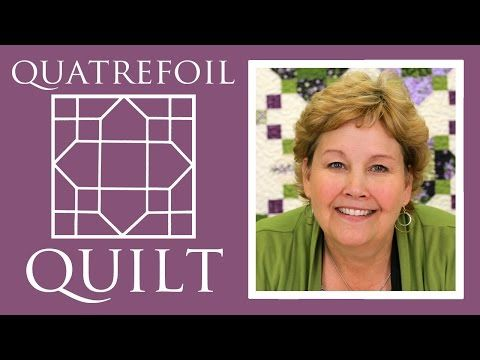 The Quatrefoil Quilt: Easy Quilting Tutorial with Jenny Doan of Missouri Star Quilt Co - YouTube