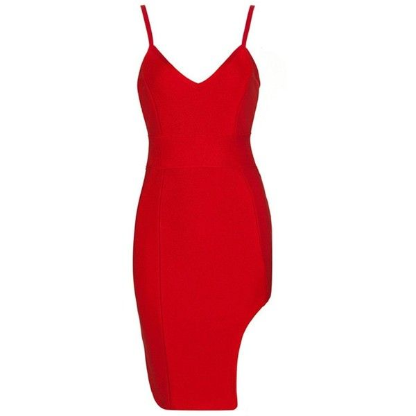 Honey couture liberty sexy red bandage dress ($179) ❤ liked on Polyvore featuring dresses, red dresses, form fitting dresses, zip front dress, red bandage dresses and sexy red cocktail dress