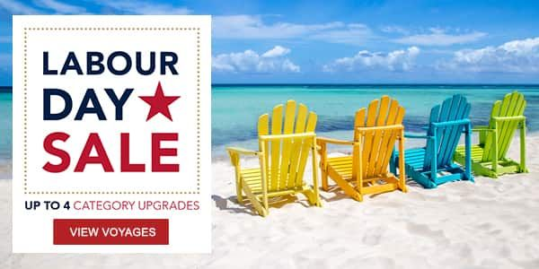 Labour Day Sale | Up to 4 Category Upgrade | View Voyages