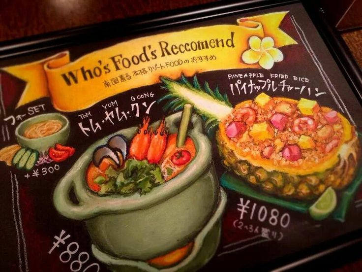 chalk art work for an asian restaurant