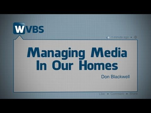 https://video.wvbs.org/video/managing-media-in-our-homes/ Undoubtedly one of the most powerful tools in Satan's arsenal of weapons is the media. With it he attacks the home and slowly breaks down moral barriers. In this lesson, Don Blackwell discusses various forms of modern-day media including: television, movies, music and social media. He examines how Satan uses these to his advantage and also how we can protect ourselves.