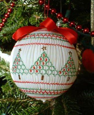 1988 smocked ball tree.jpg | Christmas: Ornaments | Pinterest ...