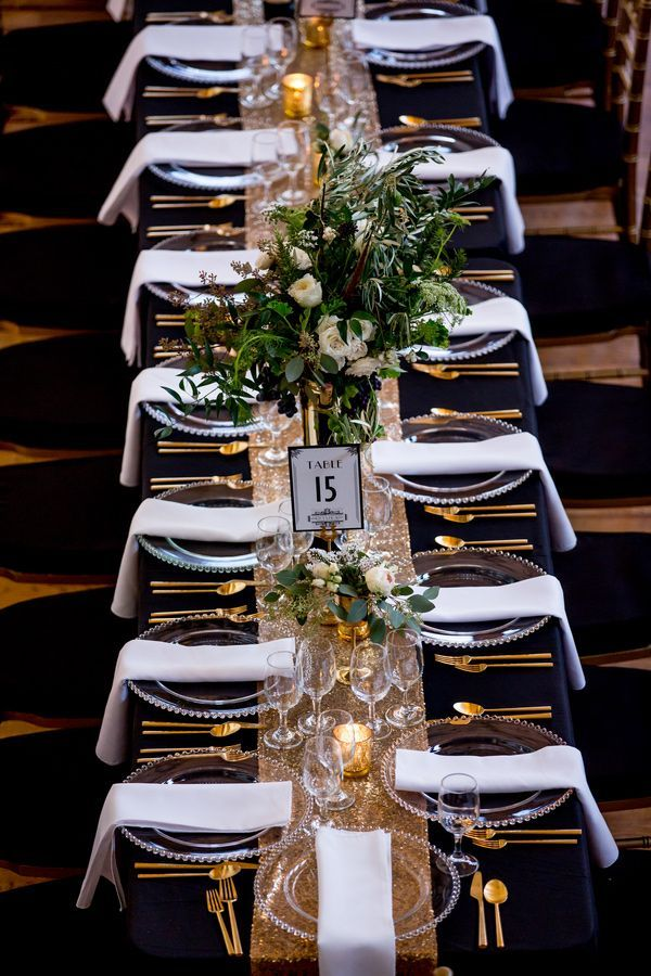 vintage glam table, photo by Victoria Sprung Photography http://ruffledblog.com/glam-chicago-wedding-with-art-deco-details #weddingideas #tablescape