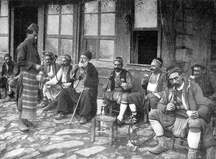 a coffee shop in Constantinople, 1905. photo by Pascal Sebah