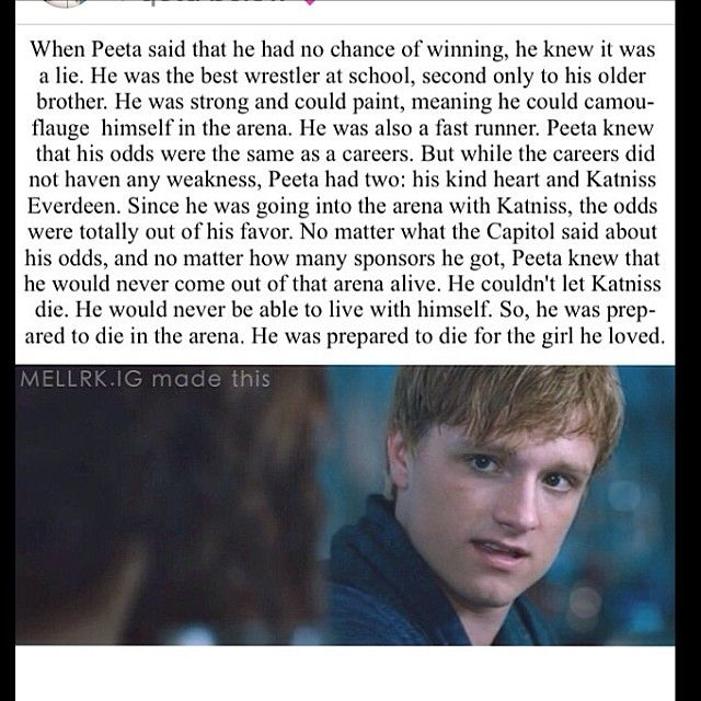 I seriously dont know how anyone could hate peeta
