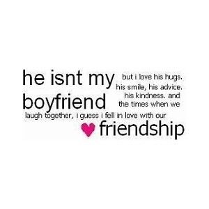 """he isn't my boyfriend."" 