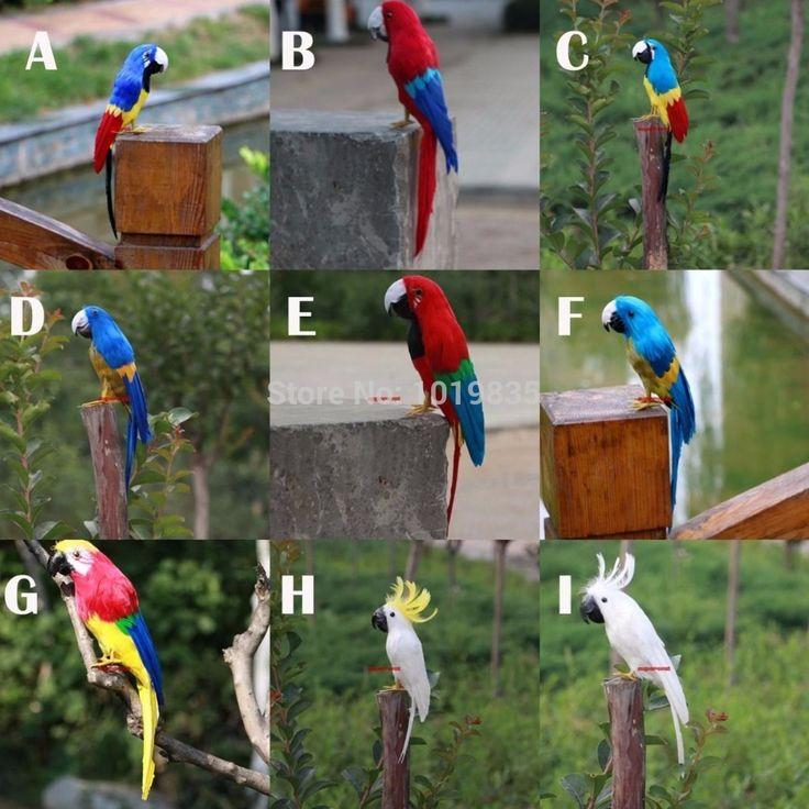 Faux artificielle perroquet plumes oiseau jardin home for Oiseau decoration jardin