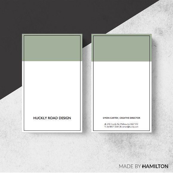 Huckly Business Card Template by Made By Hamilton on @creativemarket