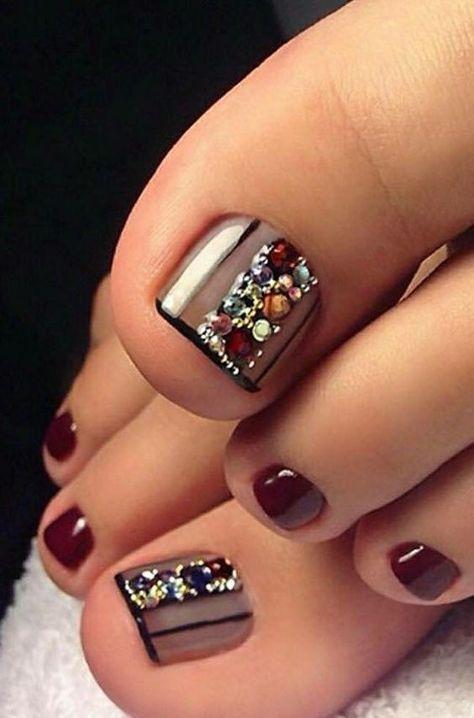 60 Pretty Toe Nail Designs For Autumn