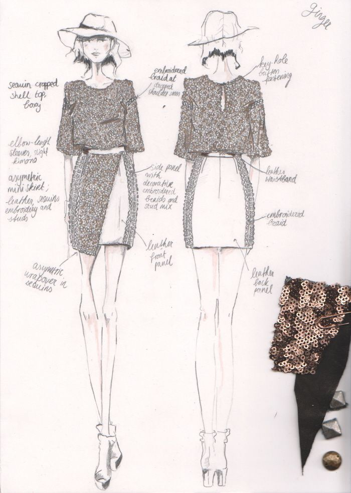free people aw womenswear by daisy bernt the first step croquis and design process to making an garment jalyn marshall more - Clothing Design Ideas