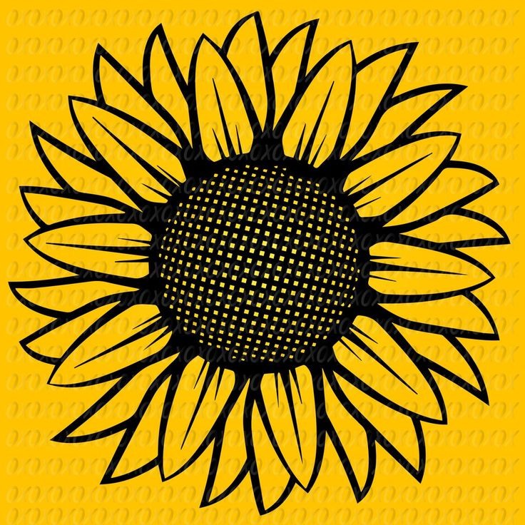Sunflower Clipart Black And White - jasa desain grafis murah (736 x 736 Pixel)
