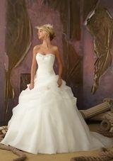 Bridal Dress: Mori Lee Bridal FALL 2012 Collection: 1858 - Crystal Beading on Organza
