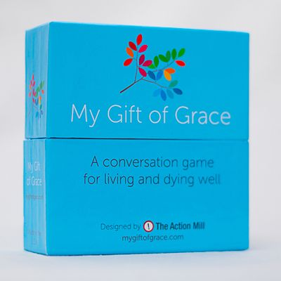 My Gift of Grace A conversation game for living and dying well  Sounds interesting. Mentioned on 99% Invisible podcast/radio