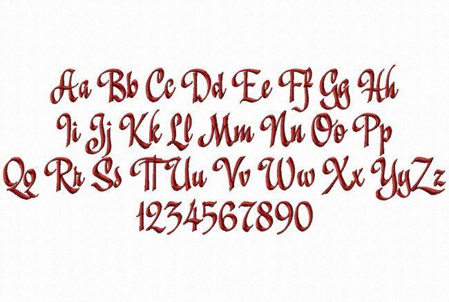 Holiday script machine embroidery font monogram alphabet