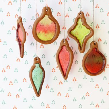 stained-glass ornaments ... almost fell off my chair when i saw this, as i used to make these cookies with my mom when i was little, and truly haven't thought of them in over 30 years...fabulous!