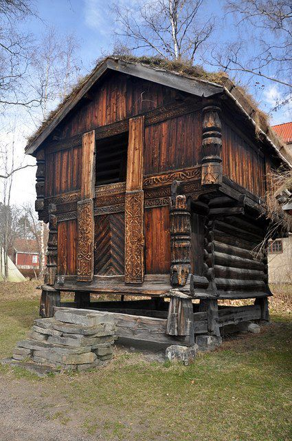 """A norwegian """"stabbur"""". A place to keep food,safe and dry.(vikingstyle)"""