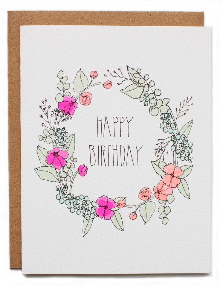 Happy Birthday Wreath Card