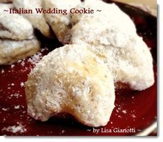 ITALIAN WEDDING COOKIES - 2 Doz. ...1 1/2 cups unsalted butter softened  * 3/4 cup powdered sugar  * 1/4 teaspoon salt  * 1 1/2 cups finely ground almonds  * 1 1/2 tablespoon of vanilla extract  * 3 cups sifted all-purpose flour  * 1/3 cup powdered sugar for rolling