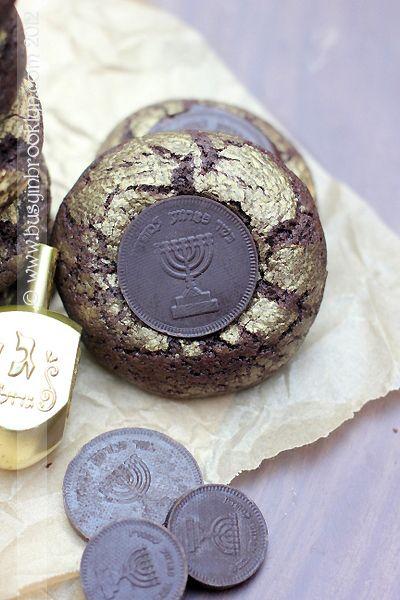 Chanukah Greek Olive Oil Crinkle Cookies