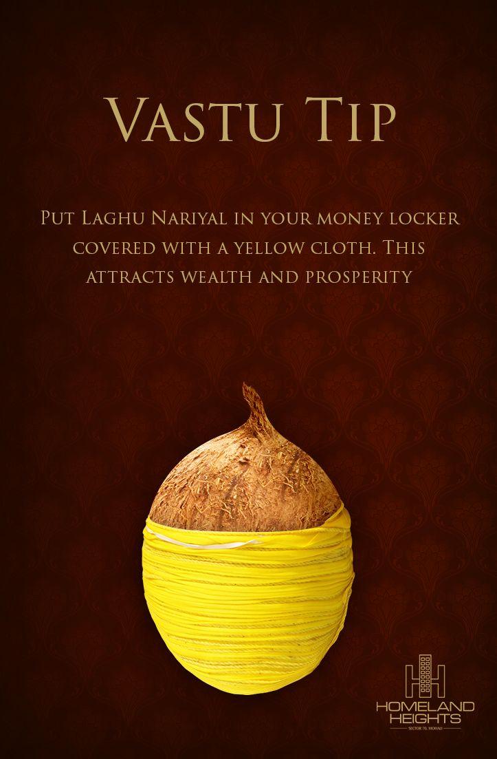 Wealth Flows From Energy And Ideas. #LaghuNariyal #Wealth #VastuTips #HomelandHeights #LuxuryApartments #Mohali