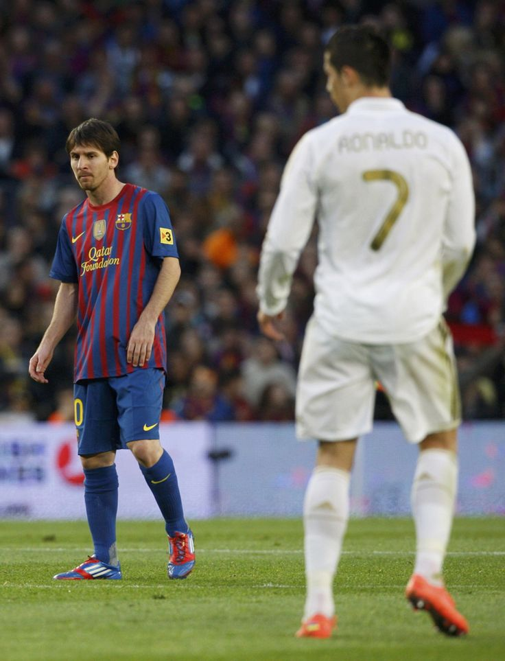 Messi - Christiano Ronaldo Can't believe that I am living in a time that I can watch these two greats go up against each other. It's a gift from the soccer gods