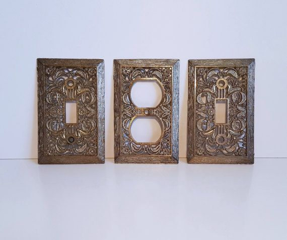 Vintage Light Switch and Outlet Cover Plates by RetroEnvy21