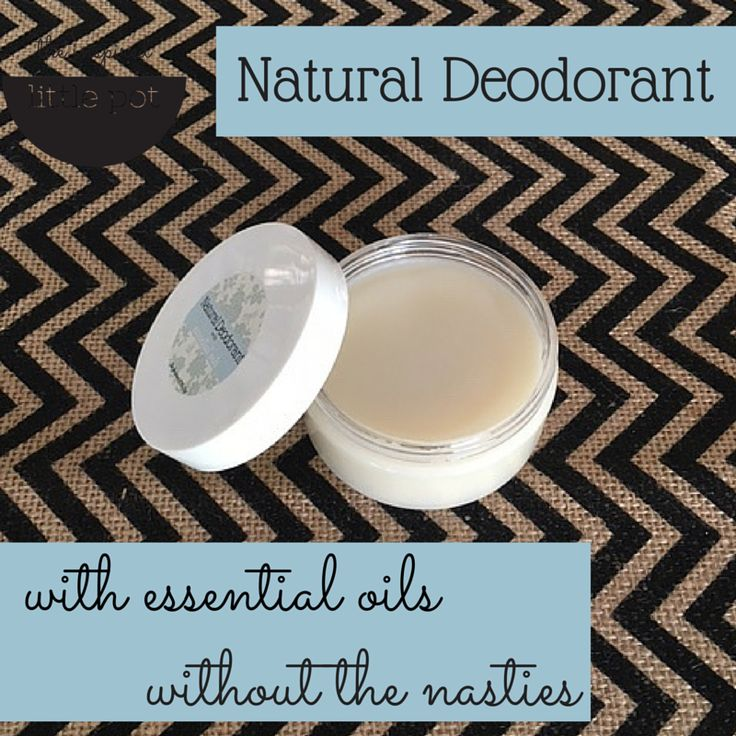 Natural Deodorant with Essential Oils