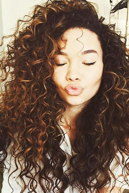 Thick natural curly hair