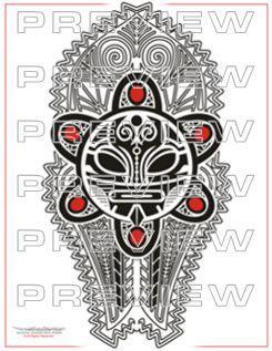 awesome taino tribal sun tattoo design | mesoamerican tattoo designs ...