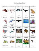 Food Chain Game Printable pg. 1--Free card game to teach food chain.