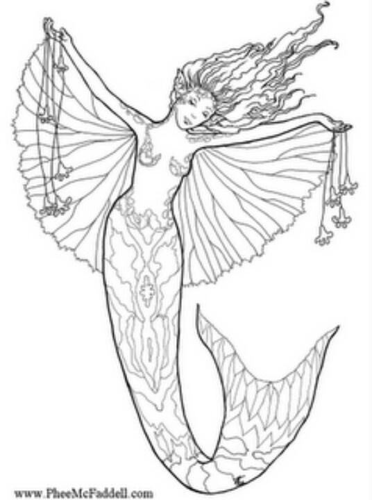 47 best mermaids images on pinterest | coloring books, mermaid ... - Coloring Pages Pretty Mermaids