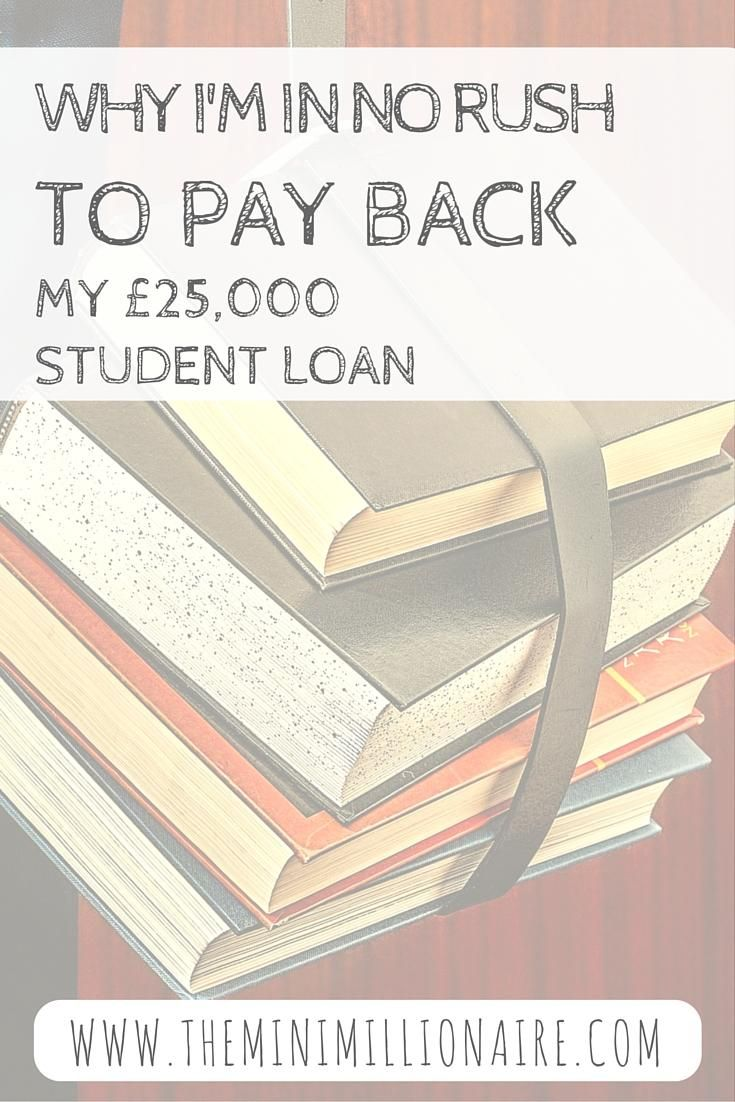 I've a student loan that well surpasses £25,000 and yet I'm not planning on paying a single penny of it back any earlier than I have to - and you should either!