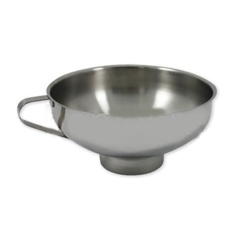 Made of 18/10 stainless steel, this bean funnel will come in handy when moving your beans to weigh or grind.  Measures 140mm in diameter.