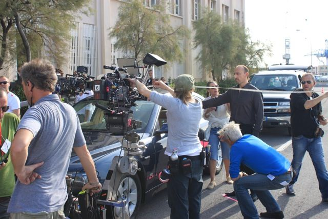 """Shooting of """"MEA CULPA"""" - Fred Cavayé - with Vincent Lindon and Gilles Lellouche. In the Cinemas in France since the 5th of February. Toulon, Navy Base."""