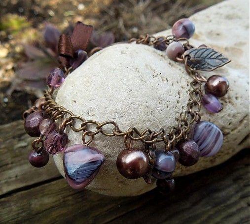 havranka / Violet & Brown Bracelet