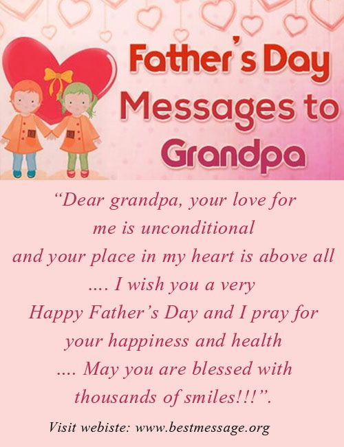 Send warm wishes to your dearest grandpa with cute Happy Father's Day messages and beautiful quotes. Use these lovely sample fathers day messages to wish grandfather.