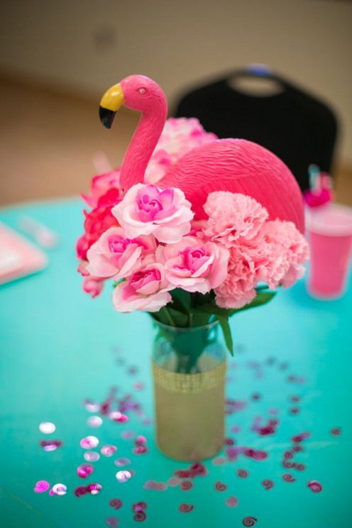 Baby Shower Ideas Let's Flamingle Baby Shower Flamingo Baby Shower Aqua and Pink…