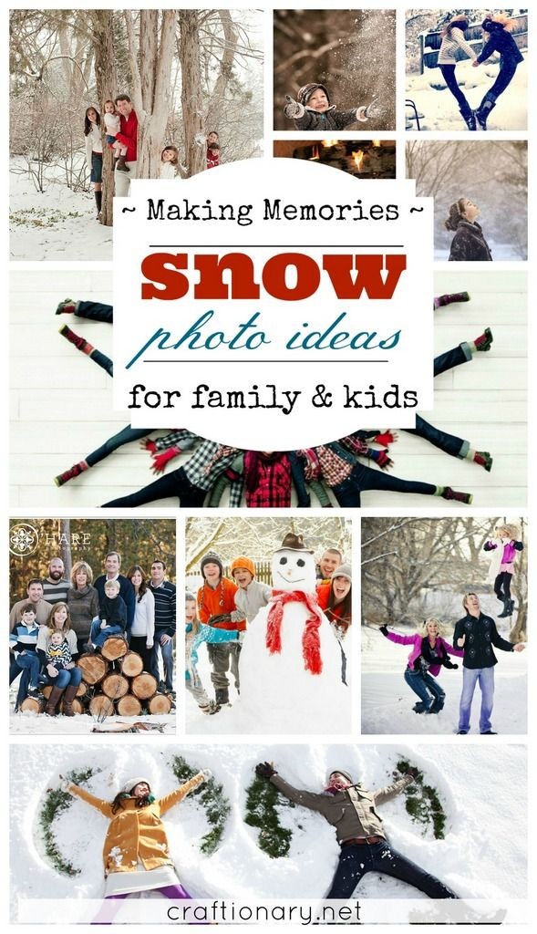 Best snow photo ideas for family and kids.
