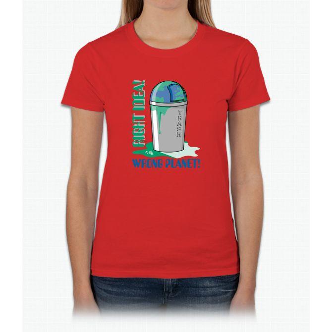 Right Idea, Wrong Planet Womens T-Shirt