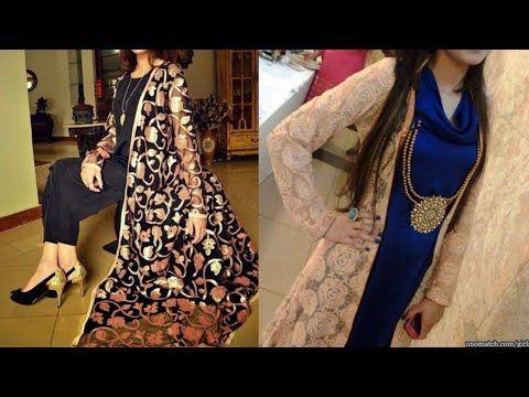 8ceee2ba6f7 New full floor touch long shrug design ideas beautiful long jacket for  kurta design net shrug - YouTube